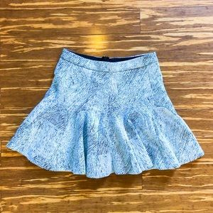 Petite fit and flare mini skirt